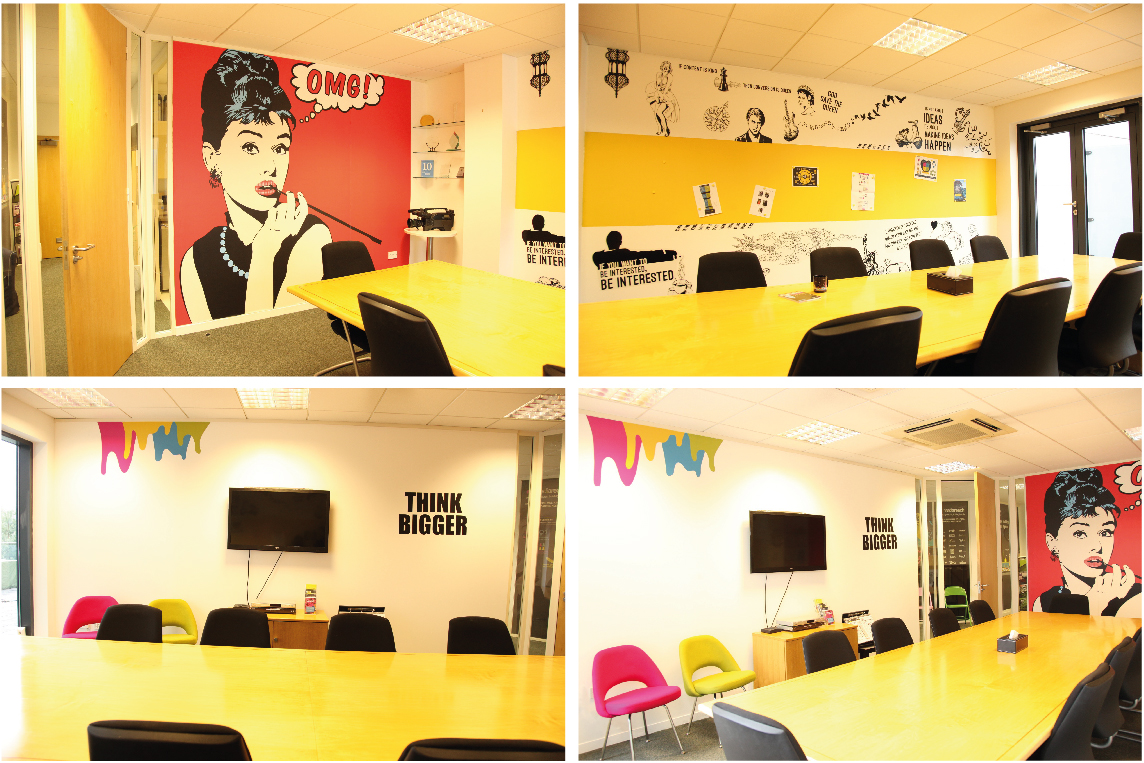 Makeover of meeting room at Mediareach - boardroom