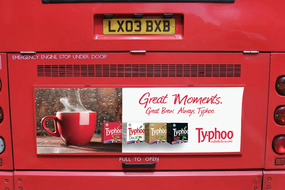 Typhoo Bus Rear Campaign